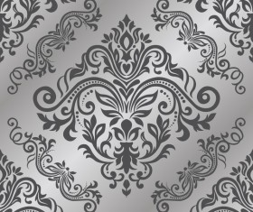 Baroque ornament pattern seamless vector vintage design 03