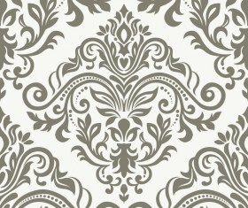 Baroque ornament pattern seamless vector vintage design 04