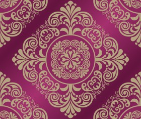 Baroque ornament pattern seamless vector vintage design 05