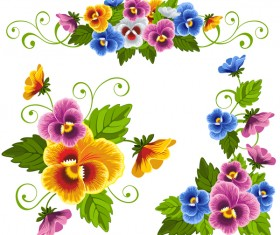 Beautiful flower decorative vectors