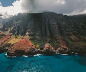 Beautiful mountain sea landscape Stock Photo