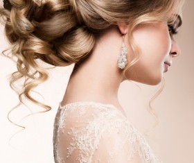 Beautiful woman with hairstyle Stock Photo
