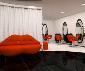 Beauty salon interior Stock Photo 02