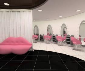 Beauty salon interior Stock Photo 03