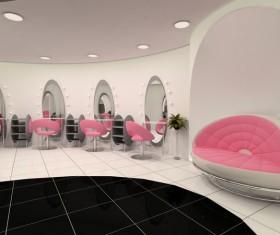 Beauty salon interior Stock Photo 04
