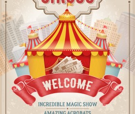 Beige carnival poster template vector 01