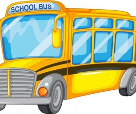 Big school bus cartoon vector