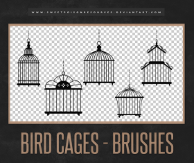 Bird Cages Photoshop Brushes