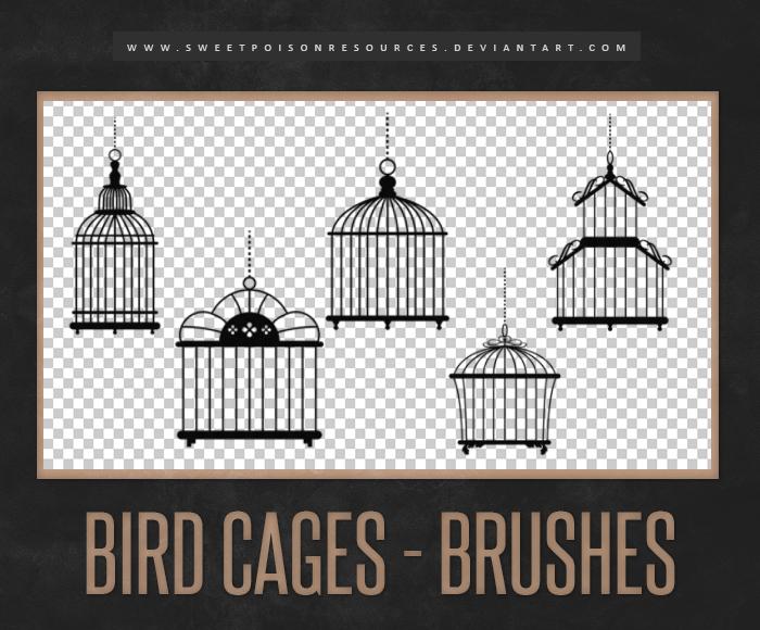 Bird Cages Photoshop Brushes