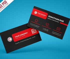Free psd templates free download 124 psd files black company business card psd template cheaphphosting Gallery