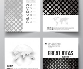 Black checkered cover template magazine with flyer vector