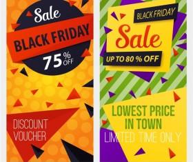 Black friday discount voucher banner vector