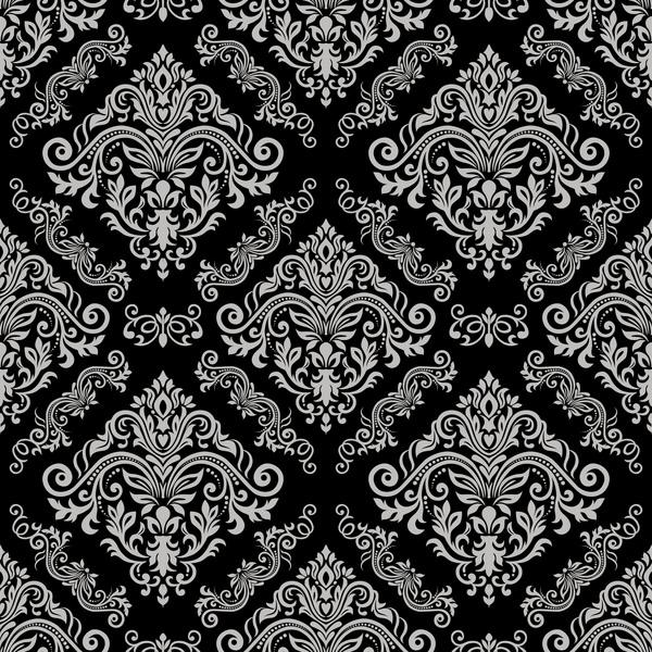 Black vintage floral seamless pattern element vector
