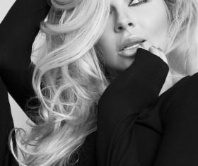 Blonde curls Beautiful woman Stock Photo 06