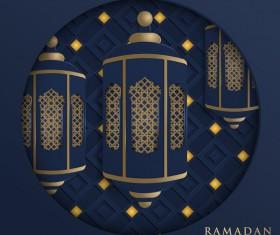 Blue Islamic ramadhan backgrounds vector