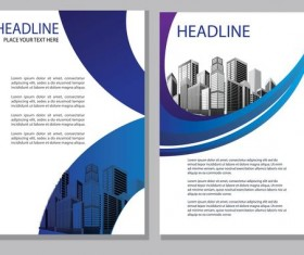 Blue abstract magazine with brochure cover 10