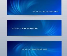 Blue banner template vector