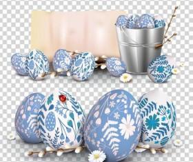 Blue easter egg illustration vector