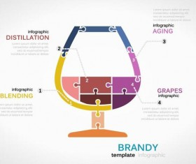 Brandy infographic vector template