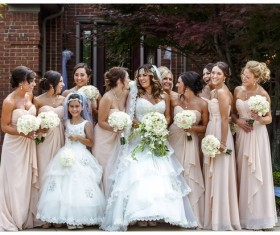 Bride and bridesmaid photo Stock Photo
