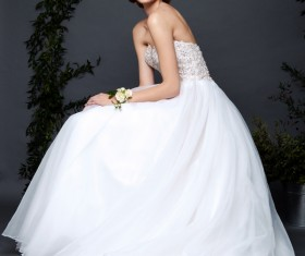 Bride woman in wedding dress Stock Photo 01
