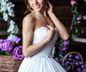 Bride woman in wedding dress Stock Photo 04