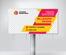 Business outdoor advertising billboard template vector 01
