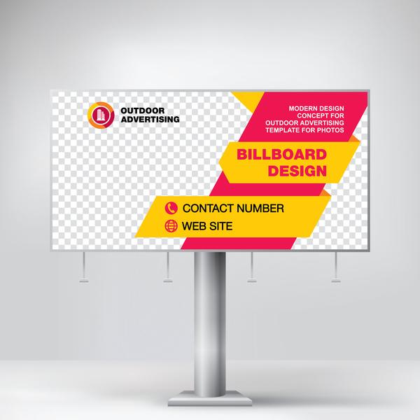 Business Outdoor Advertising Billboard Template Vector 01 Free Download