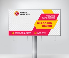 Business outdoor advertising billboard template vector 02