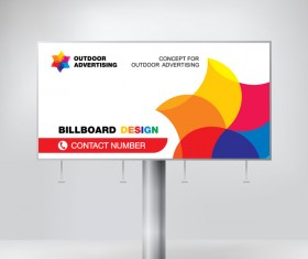 Business outdoor advertising billboard template vector 03