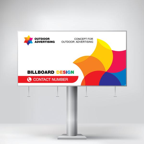 Business outdoor advertising billboard template vector 03 - Vector ...