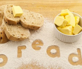 Butter and toast Stock Photo 01