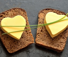 Butter and toast Stock Photo 04