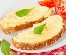 Butter and toast Stock Photo 05