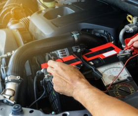 Car engine maintenance Stock Photo 02