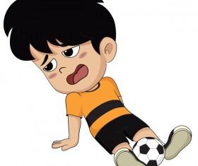 Cartoon kid with soccer vectors 05