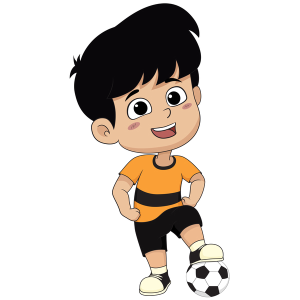 cartoon kid with soccer vectors 09 free download Religious Christmas Clip Art Holiday Open House Clip Art
