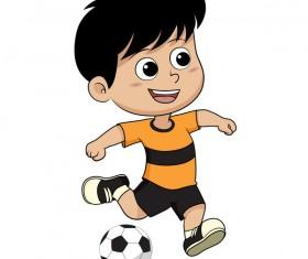 Cartoon kid with soccer vectors 10