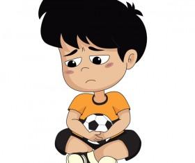 Cartoon kid with soccer vectors 12