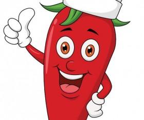 Cartoon pepper chef vector