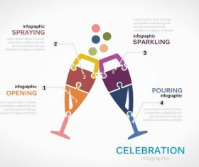 Celebration infographic vector template