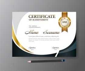 Certificate cover template vectors set 03