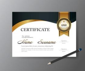 Certificate cover template vectors set 04