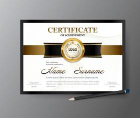 Certificate cover template vectors set 05
