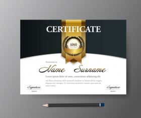 Certificate cover template vectors set 06