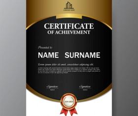 Certificate cover template vectors set 07