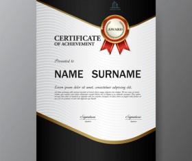 Certificate cover template vectors set 08