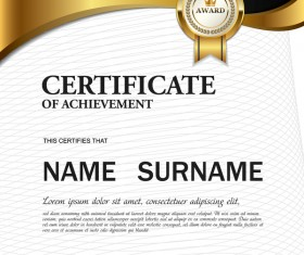 Certificate cover template vectors set 09