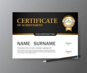 Certificate cover template vectors set 11