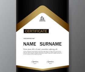 Certificate cover template vectors set 13